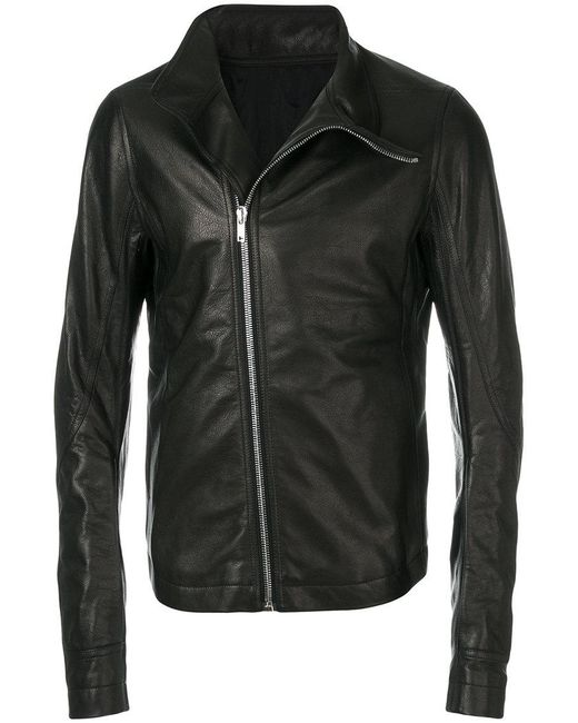 Rick Owens - Black Mollino Biker Jacket for Men - Lyst