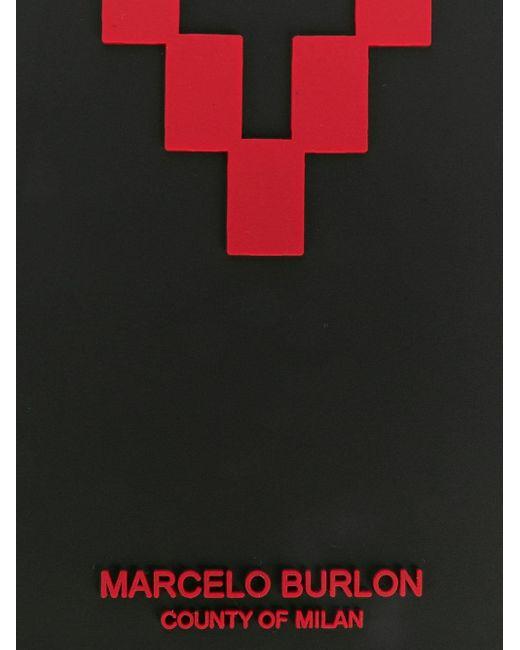 メンズ Marcelo Burlon ロゴ Iphone Xs Max ケース Black