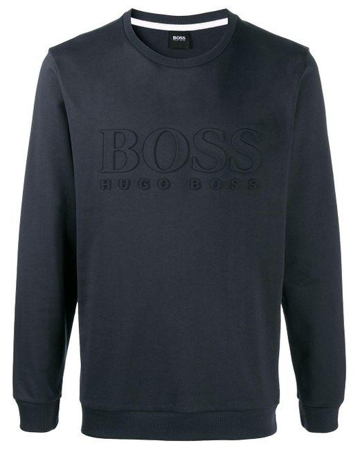 メンズ BOSS by Hugo Boss スウェットシャツ Blue