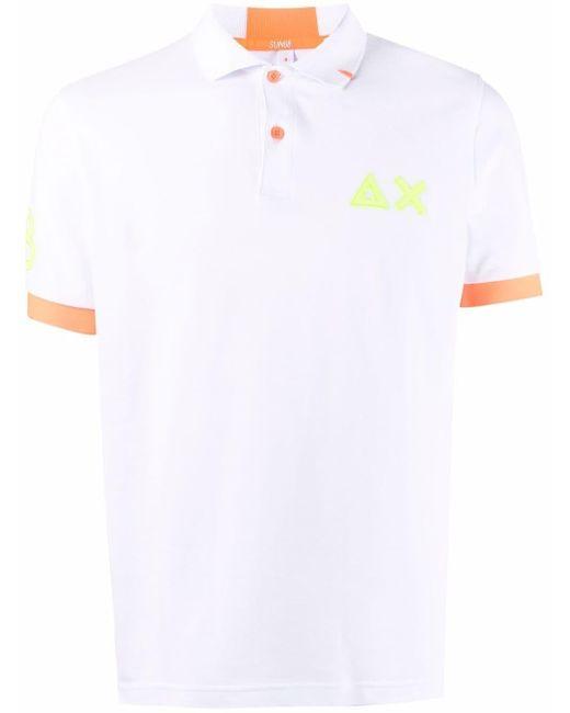 メンズ Sun 68 ロゴ ポロシャツ White