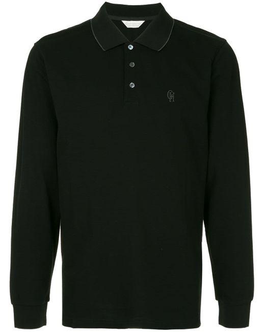 メンズ Gieves & Hawkes ロングスリーブ ポロシャツ Black