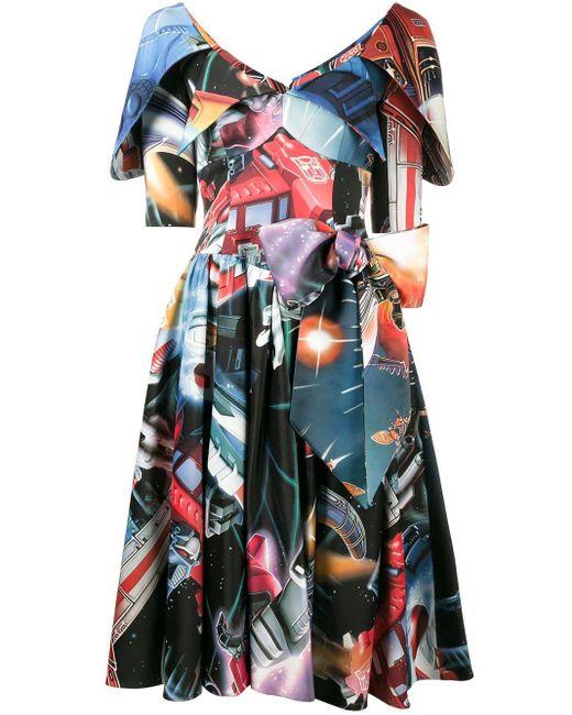 Moschino プリントフレアドレス Multicolor