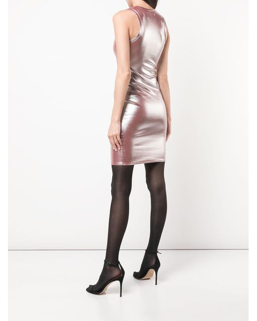 Fitted Sleeveless Dress Alexandre Vauthier, цвет: Metallic