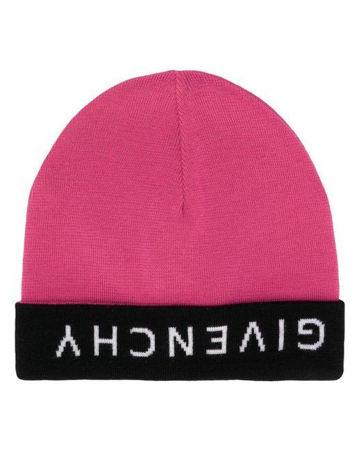 メンズ Givenchy ロゴ ビーニー Pink