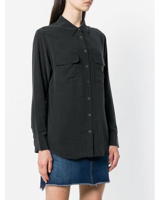 Equipment シルクシャツ Black