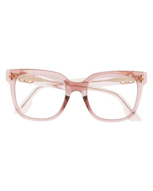 c7fe7f02ed Dior - Pink Cd1 Glasses - Lyst ...