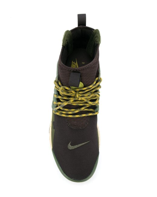 ... Nike | Brown Air Presto Mid Utility Sneakers for Men | Lyst