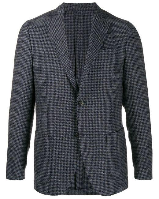 メンズ Dell'Oglio ハウンドトゥース ジャケット Blue