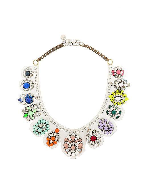 Shourouk - Multicolor Rainbow Necklace - Lyst