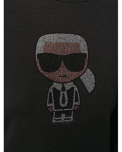 Толстовка Ikonik Karl Karl Lagerfeld, цвет: Black