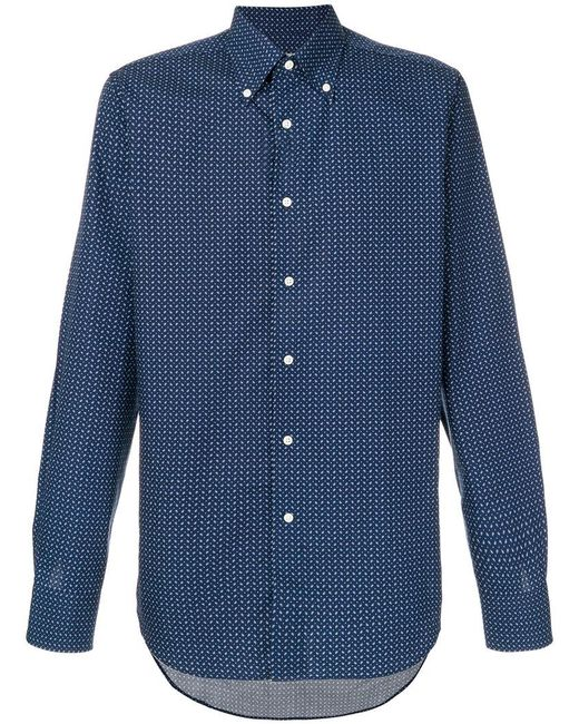 Canali   Blue Paisley Pattern Shirt for Men   Lyst