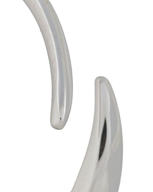 Tom Wood Metallic Loop Mini Earrings