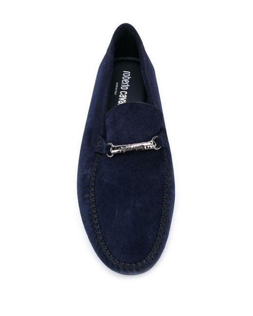 Roberto Cavalli Loafer mit Stegverzierung in Blue für Herren
