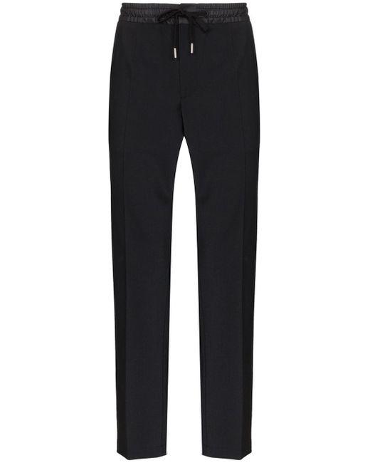 メンズ Dolce & Gabbana パイピング トラックパンツ Black