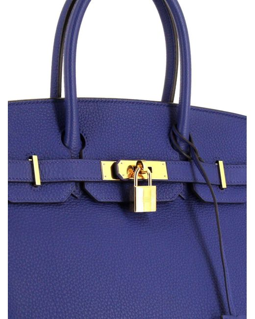 Сумка Birkin 30 Pre-owned 2015-го Года Hermès, цвет: Blue