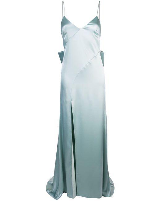 Zac Zac Posen Eileen メタリックドレス Blue