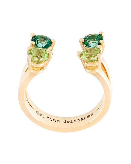 Delfina Delettrez - Green 'dots' Phalanx Midi Ring - Lyst
