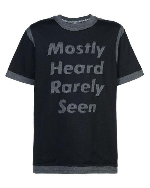 メンズ Mostly Heard Rarely Seen ロゴパッチ Tシャツ Black