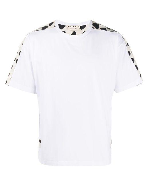 メンズ Marni ハートプリント Tシャツ White