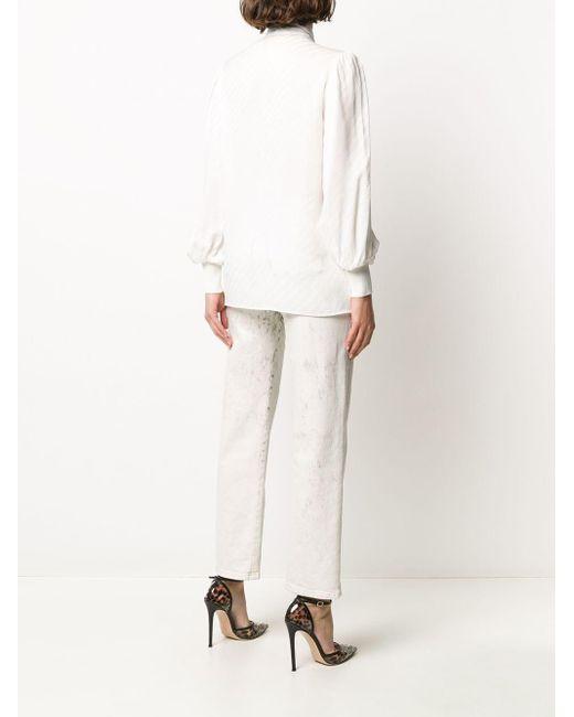 Givenchy ボウタイ シルクブラウス White
