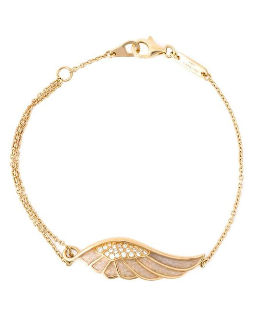 Garrard - Metallic Diamond Detail Wing Bracelet - Lyst