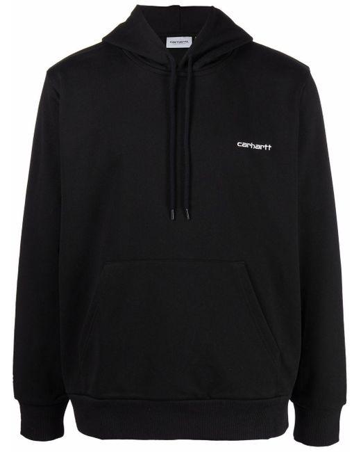 Carhartt WIP Black Script Embroidered-logo Hoodie for men