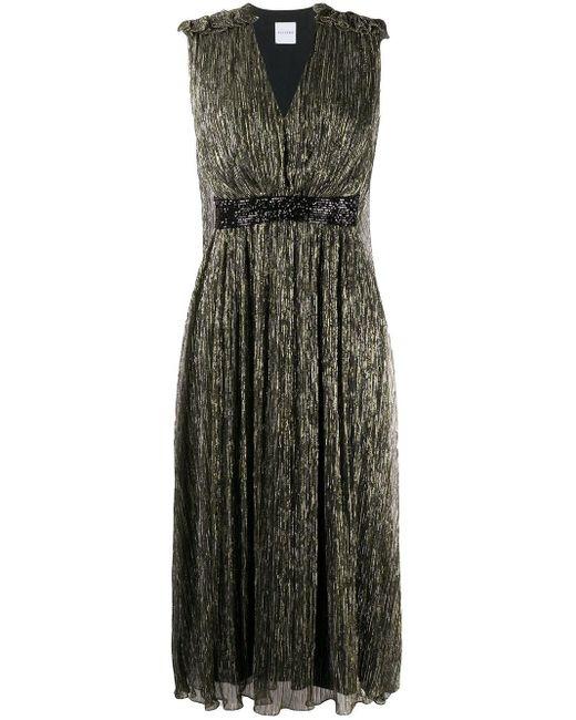 Halpern メタリック ドレス Multicolor