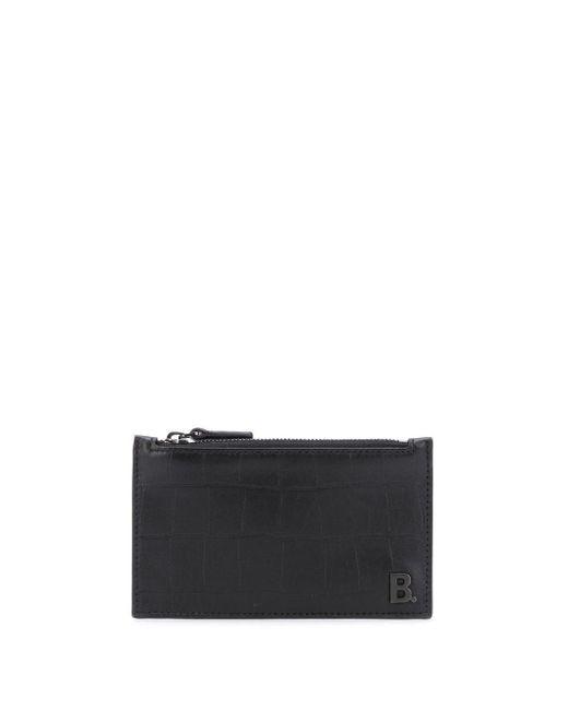 メンズ Balenciaga B カードケース Black