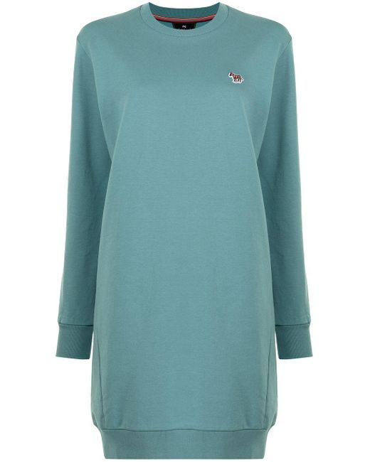Платье-толстовка С Вышитым Логотипом PS by Paul Smith, цвет: Blue