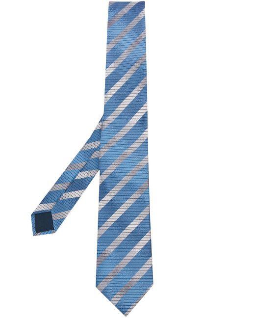 メンズ Lanvin ストライプ ネクタイ Blue
