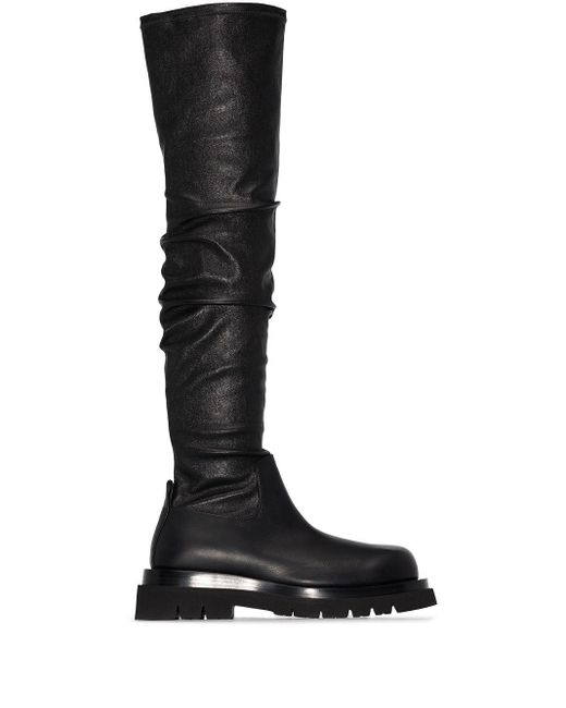 Bottega Veneta Black Overknee-Stiefel