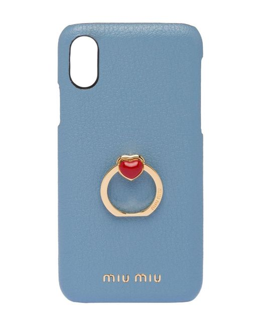 Miu Miu Iphone X/xs ケース Blue