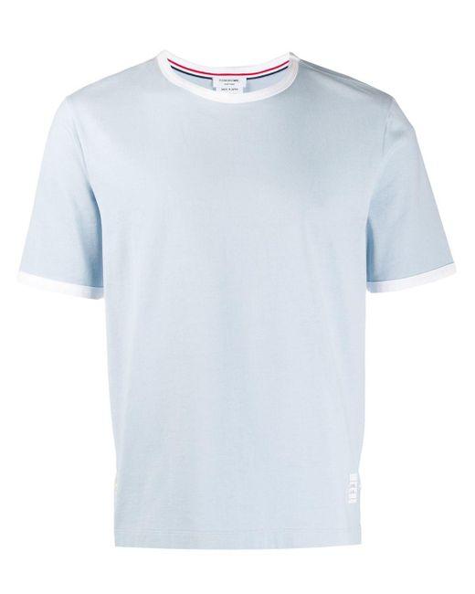 Футболка Medium Weight Ringer Thom Browne для него, цвет: Blue