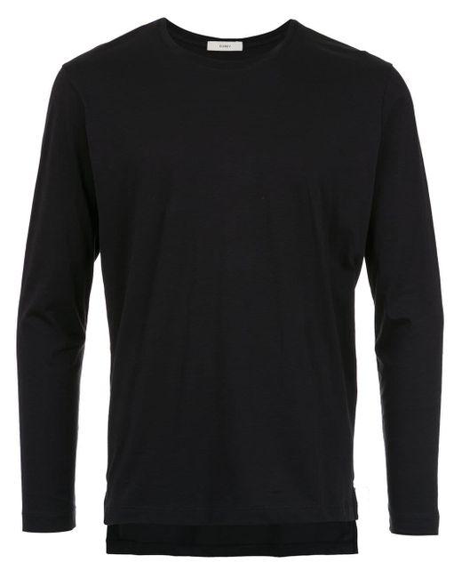 メンズ Egrey クラシック ロングtシャツ Black