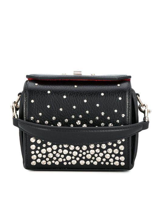 Alexander McQueen Black Studded Mini Box Bag