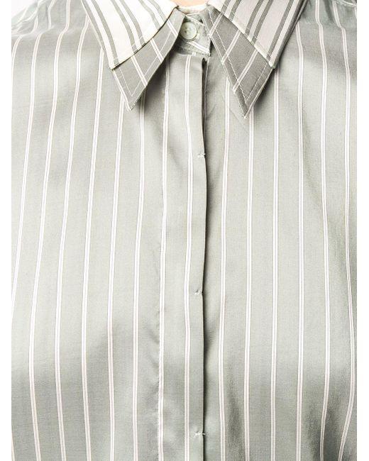 Рубашка В Полоску Brunello Cucinelli, цвет: Green