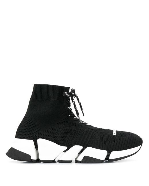Balenciaga Black 'Speed LT' Sneakers