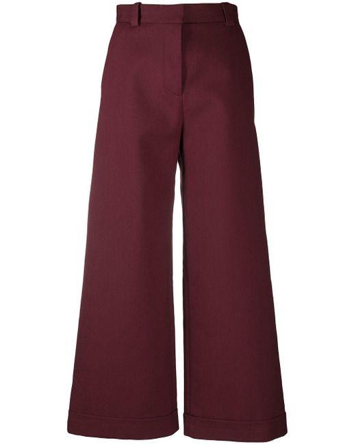 Pantalones de talle alto anchos See By Chloé de color Red