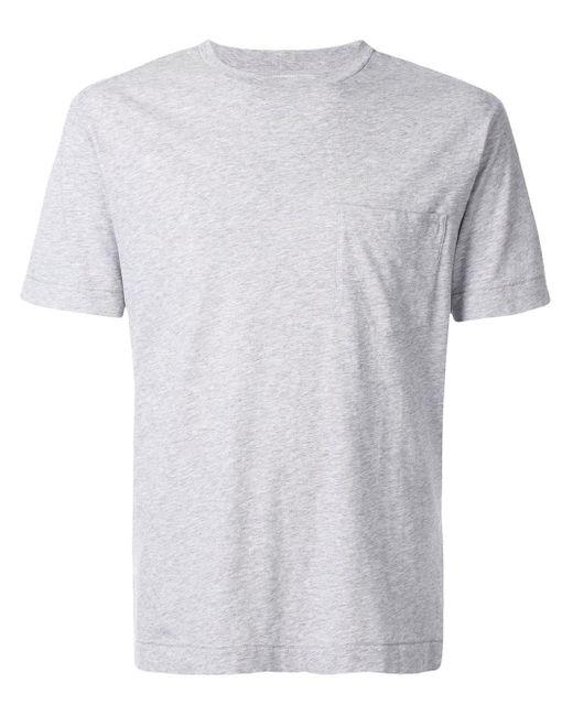 メンズ Cerruti 1881 チェストポケット Tシャツ Gray