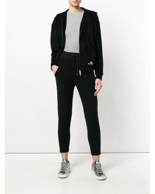 DSquared² Black Hooded Zip Jacket