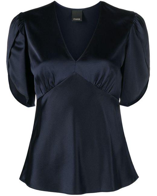 Блузка С Эффектом Металлик Pinko, цвет: Blue