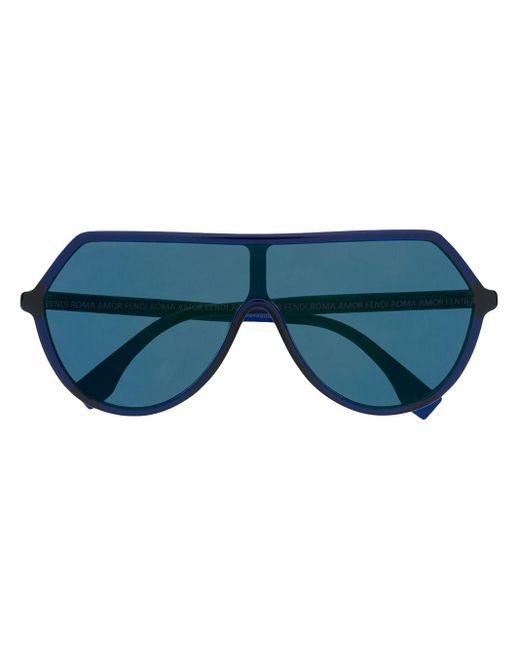 Fendi オーバーサイズ サングラス Blue