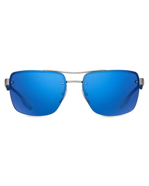 メンズ Prada ミラーレンズ サングラス Blue