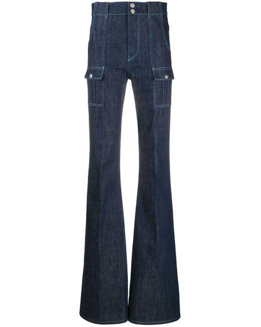Chloé Jeans Met Opgestikte Zakken in het Blue