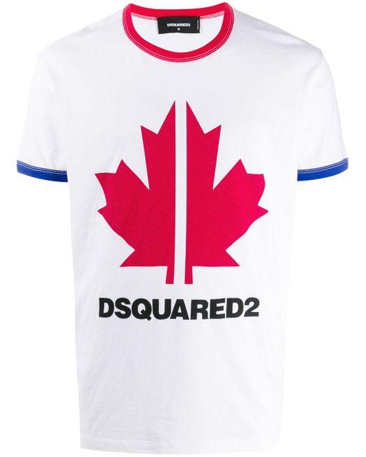 メンズ DSquared² ロゴ Tシャツ Multicolor