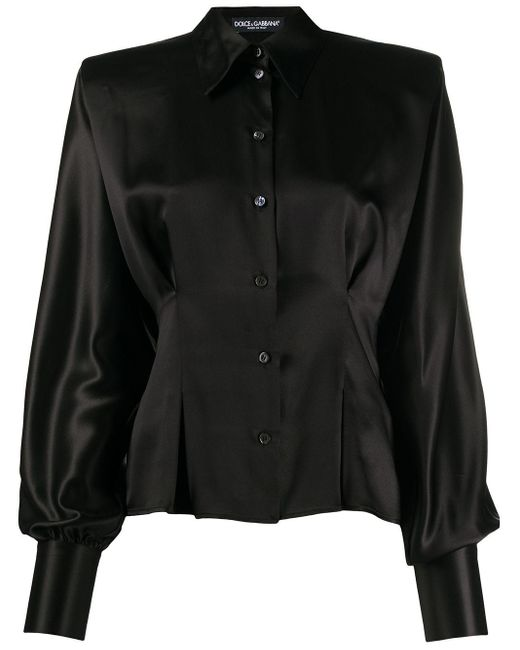 Dolce & Gabbana ボタン ブラウス Black
