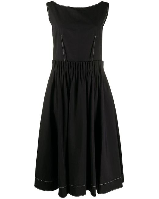 Marni コントラスト ドレス Black