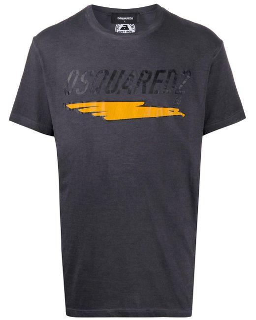 メンズ DSquared² プリント Tシャツ Gray