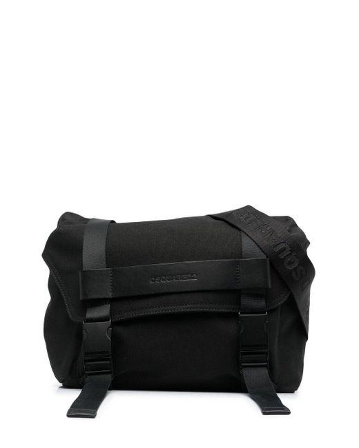 Сумка-мессенджер С Тисненым Логотипом DSquared² для него, цвет: Black