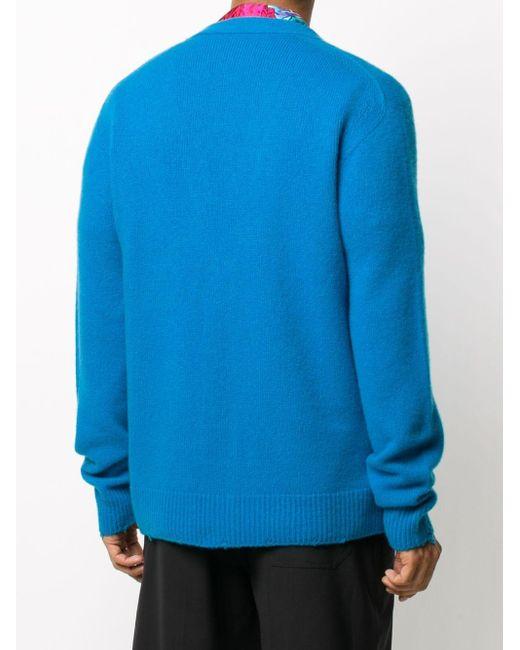 Кардиган С Вышивкой Medusa Versace для него, цвет: Blue